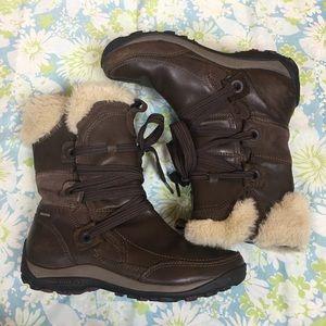 396a5c0697472 Merrell Shoes | Nikita Waterproof Brown Leather Boots | Poshmark
